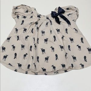 Darling Doe Blouse With Navy Bow | 4T
